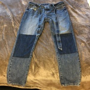 Lucky brand jeans with denim belt